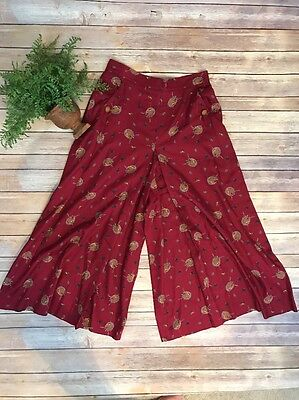 Vintage 60S Alexander Campbell Culottes Pants Western Equestrian Style Maxi