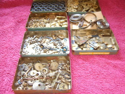 Assorted Clock Parts Vintage