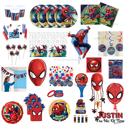 Marvel SPIDERMAN Boys Birthday Party Ware Children Decorations Balloons Banners