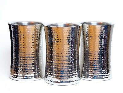 TO HIRE Silver Bottle Cooler with Hammered Effect for Spirits & Wine Weddings