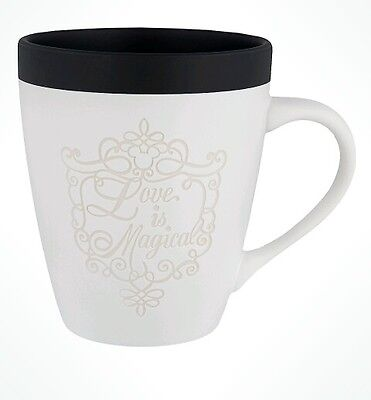 Disney Parks Love Is Magical Mrs. Bride Wedding White Coffee Mug Cup NEW
