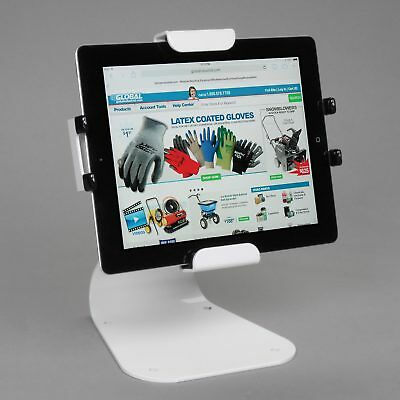 Universal Desktop Tablet Mount With Theft Resistant Hardware, White, Lot of 1