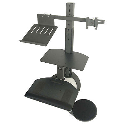 TaskMate Go Sit-Stand Laptop Holder & Monitor Mount, Lot of 1