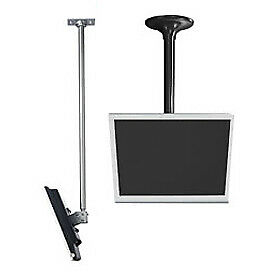 LCD Ceiling Mount w/ Cable Management, Silver, Lot of 1