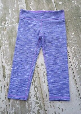 Ivivva RHYTHMIC CROPS Wee Are From Space Purple Blue Capris Run Cheer Gym 10