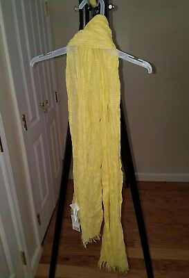 bonton yellow stripe girls scarf nwt