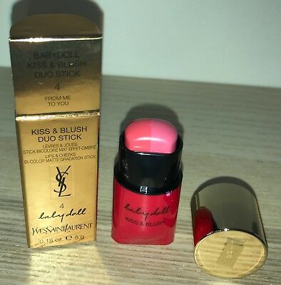 BNIB! YSL Baby Doll Kiss & Blush Duo Stick for Lips & Cheeks in 4 From Me To You