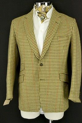 "42"" Short Bespoke Tailored Working Cuffs Tweed 3 Pocket Jacket Blazer"