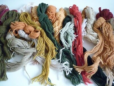 Elizabeth Bradley yarns mixed colors - left over from  her many tapestries
