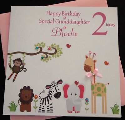 Handmade Personalised Girls 1st 2nd Birthday Card Daughter Granddaughter Niece