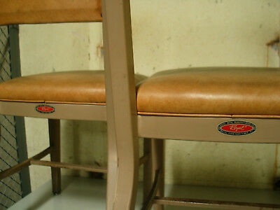 Royal Metal Steel Chairs in Superb condition 1 pair in rare Orange color