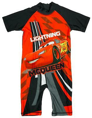 Boys Disney Pixar Cars Lightning McQueen Sunsafe Swimsuit Costume 1.5 to 4 Years