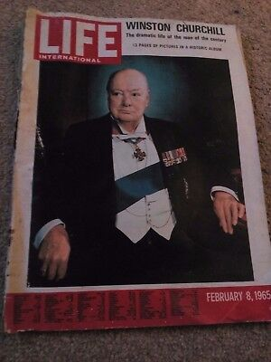 Life International Magazine- Collectables Winston Churchill  Feb 8 Th 1965