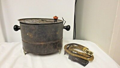 Vintage Electric Metal Popcorn Popper with Top Crank