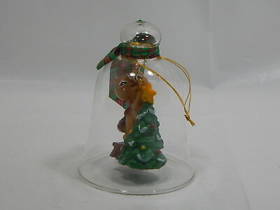 Avon Christmas Charm Bell Ornament Chipmunk- Gift Collection Glass NIB
