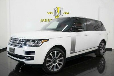 2016 Land Rover Range Rover Autobiography LWB LONG WHEEL BASE 2016 Range Rover Autobiography LWB, LONG WHEEL BASE, WHITE ON RED! 1-OWNER!