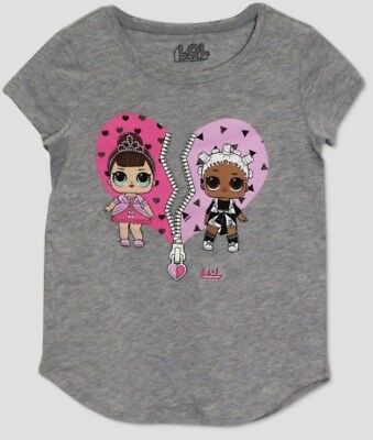 L.O.L. Surprise! LOL Glow In The Dark Surprise Girl's T-Shirt Size L (10/12)