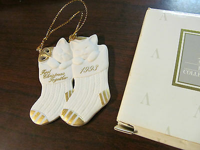 """Avon 1993 First Christmas Porcelain Ornament """"our First Christmas Together"""""""