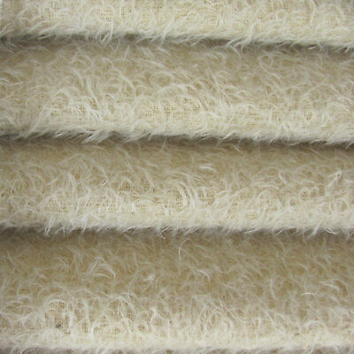 """1/6 yd 300S/CM Oatmeal INTERCAL 1/2"""" Ultra-Sparse Curly Matted Mohair Fabric"""