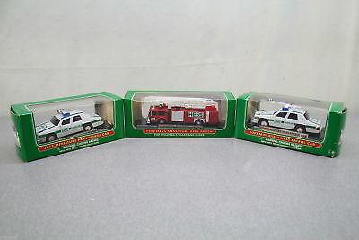 Hess Collectible Toys - Miniature Series - Fire Truck & Patrol Car - Lot of 3