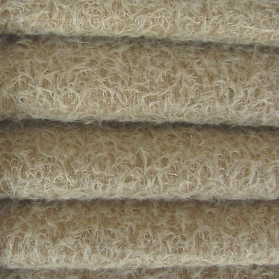 """1/4 yd 300S/CM Sand INTERCAL 1/2"""" Ultra-Sparse Curly Matted Mohair Fur Fabric"""