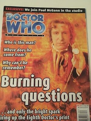 Doctor Who Magazine Issue 294, 23rd Aug 2000 Featuring Paul McGann