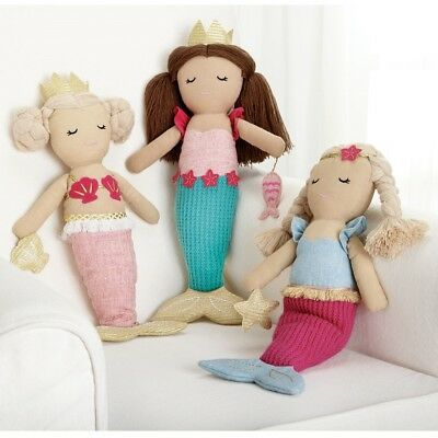 Mud Pie E8 Baby Boutique Girl Linen Mermaid Doll Toy 16in 2112347 Choose