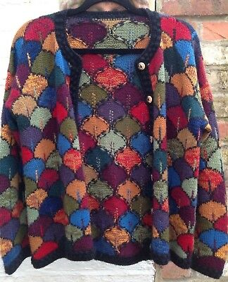 KAFFE FASSETT Cardigan Hand Knitted Alpaca Chest 22""