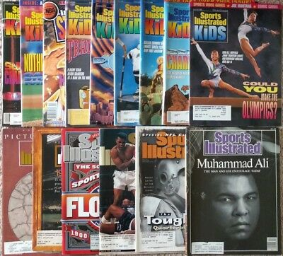 Lot of 15 Sports Illustrated Magazines & Sports Illustrated for Kids