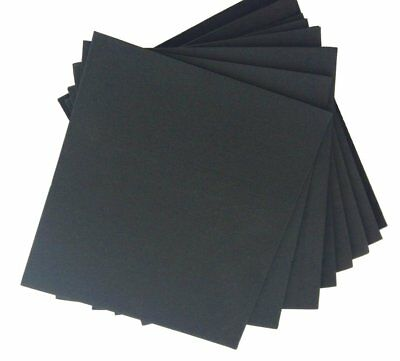 "Neoprene Rubber Sheets 9""x10"" Assorted Thickness DIY Gasket Arts Crafts (8 Pack)"