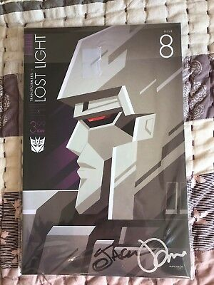 Autographed Transformers IDW Lost Light #8 Variant