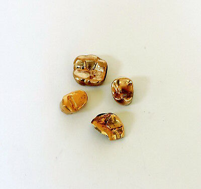 Dental Yellow Gold 4 Pieces Crowns and Caps