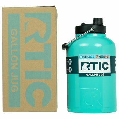 RTIC® Teal One Gallon Water Jug / Tumbler, Insulated Stainless Steel Bottle, 1G