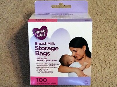 Parent's Choice Breast Milk Storage Bags, 100 Ct