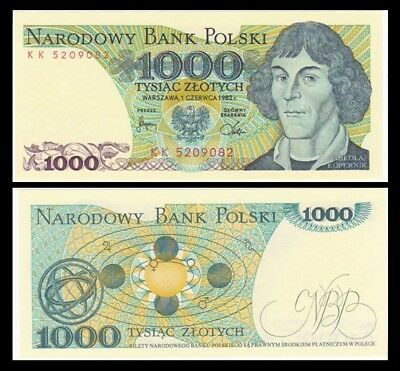 POLAND 1000 Zlotych, 1982, P-146c, UNC World Currency