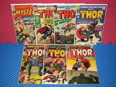 Journey Into Mystery Thor Lot of 7 #100-125 Silver Age Marvel #118 1st Destroyer