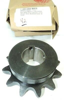 Browning H8012X 1-7/16 Finished Bore Roller Chain Sprocket, 12 Hardened Teeth