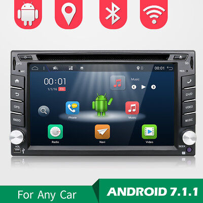 """6.2""""Android 7.1.1 Double 2 DIN Car GPS DVD Player Bluetooth Stereo Sat Nav USB"""