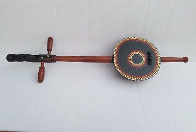 2 String Instrument hand made out of a natural gourd Ethiopian African Cerimony