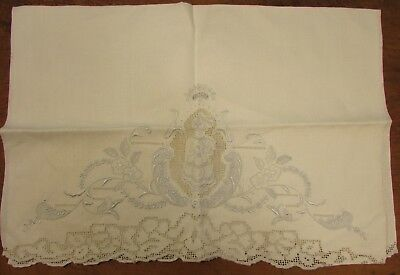 Appenzell Linen Towel With Female Figure, Blue Embroidery