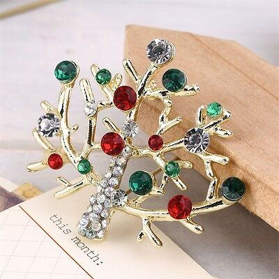376654d7f23 Gorgeous Colorful Crystal Rhinestone Christmas Tree Brooch Pin Xmas Gift  New XU