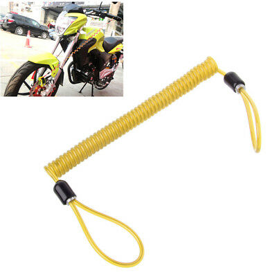 Alarm Disc Lock 150cm Security Spring Reminder Cable Motorcycle Bike Scooter O