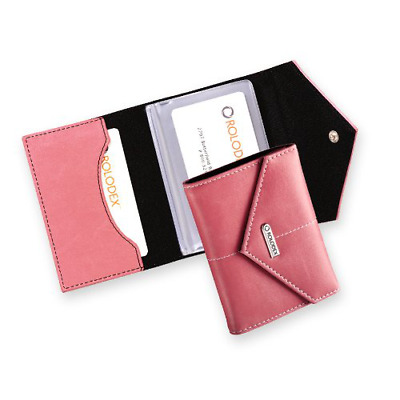 Rolodex Pink Ribbon Business Card Case, 36-Cards Pink