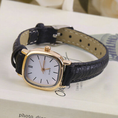Vintage Round SHape Small Dial Women Lady PU Leather Wrist Watch Best Gift NC