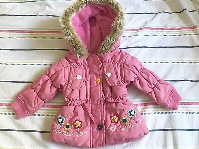 Baby Jacket Coat Pink Size 6-12 Month From UK