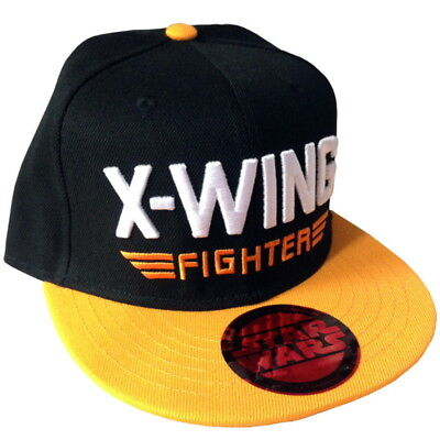 OFFICIAL Star Wars Embroidered X-Wing Fighter Baseball Cap Snapback Hat (NEW)