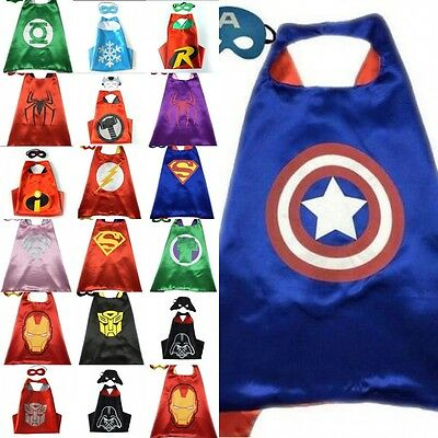 TUT Superhero Cape (1 cape+1 mask) for kids birthday party favors and ideas 2018