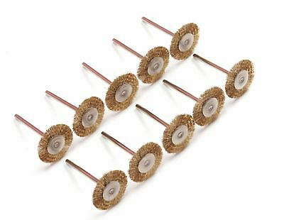 20 PCS Brass Wire Wheel Brushes For Dremel Die Grinder - Rotary Tools [DORL_A]