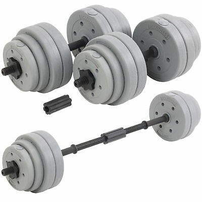 30kg Weight Set Dumbbell Barbell 2 x Hand Weights Gym home Workout UK STOCK