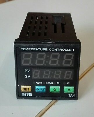 MyPin TA4E-RNR PID temperature controller, 24V powered/control with TC/RTD input